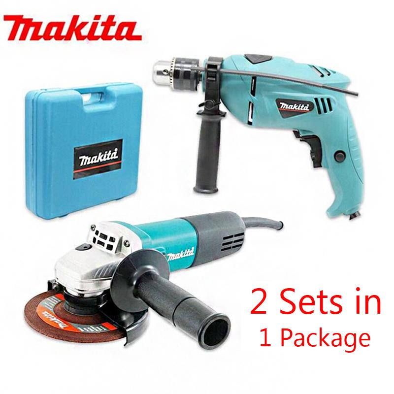Makita Grinder With Drill Set (Blue)