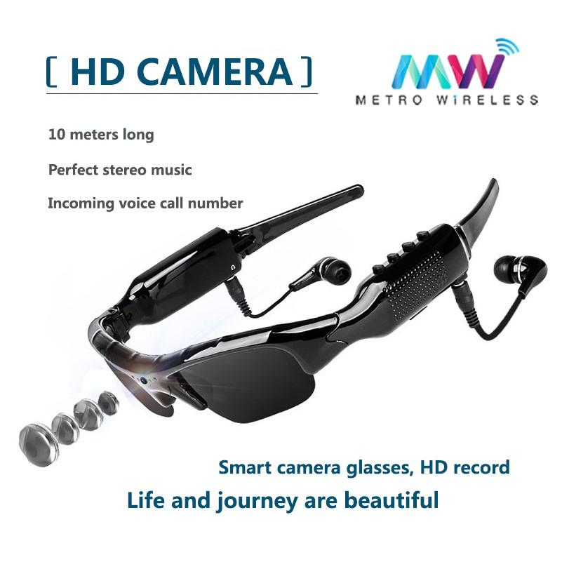 DV/MP3 Sunglasses Bluetooth Sports Headset HD Camcorder