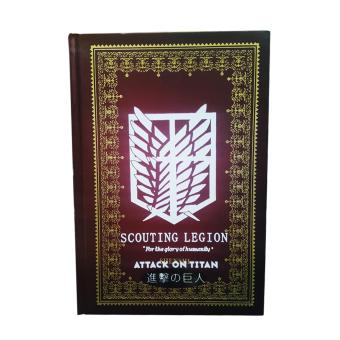 Anime - Attack on Titan Hard Cover Notebook ( Maroon )