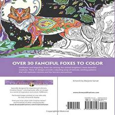 Creative Haven Fanciful Foxes Coloring Book Adult
