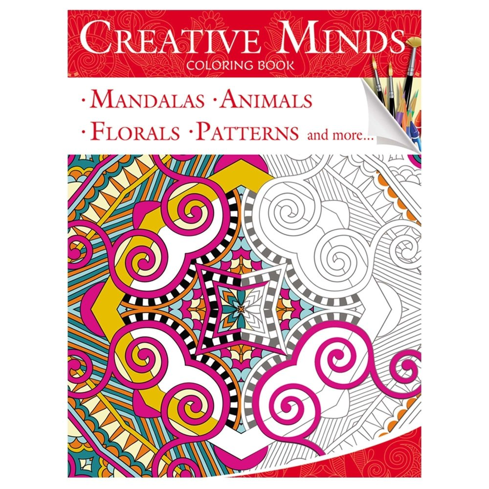phil lewis art coloring books for adults : Art Therapy Coloring Book Philippines Creative Minds Coloring Books For Adults 1