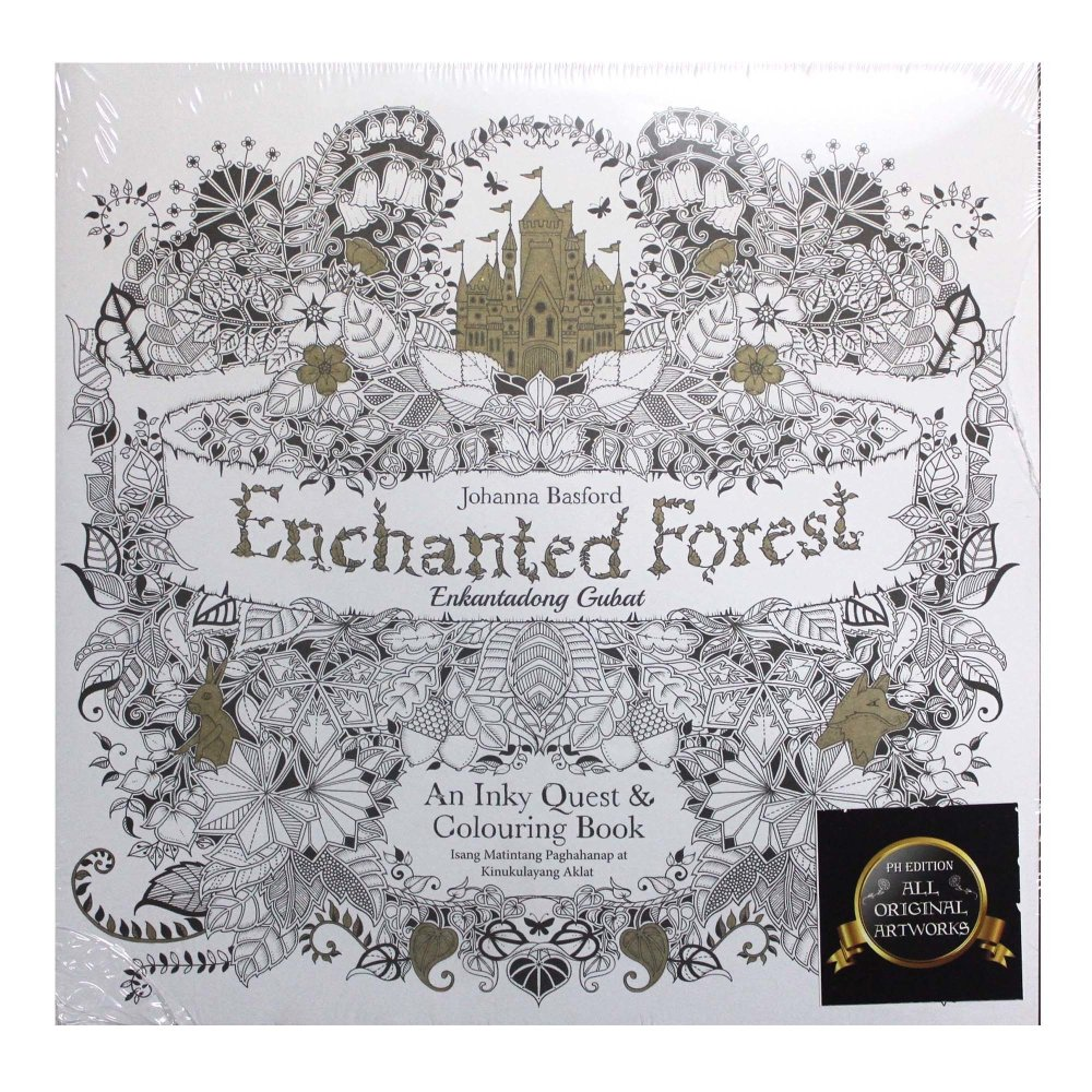 Stress coloring books for adults - Enchanted Forest Adult Coloring Book The Filipino Edition