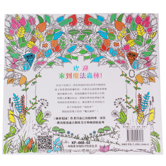 Book Enchanted Forest 48 Pages Chinese HengSong Secret Garden An Inky Treasure Hunt And Coloring