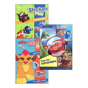 WS Disney Pixar Time For Adventure And Sticker Play (Lion Guard& Pixar) Set Of 3