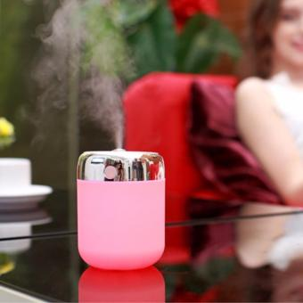 Air Humidifier Home Office Car USB Portable LED Colorful Night Light Mute Aromatic Machine(Blue/Green/Pink/Yellow)ZW798H
