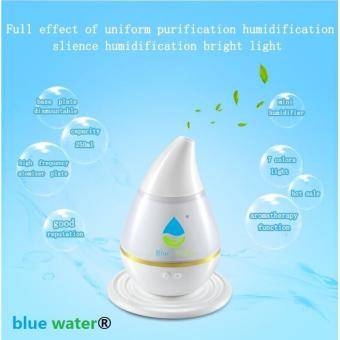 Blue Water Ultrasound Atomization Humidifier Colorful GradientLight (White)