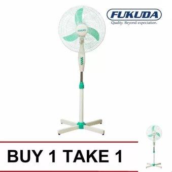 "Fukuda SF164XS 16"" Banana Blade Plastic Stand Fan (Green) Buy 1Take 1"