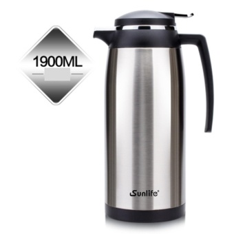 Stainless Steel Thermos Flask 1.9L Vacuum Insulation Kettle CoffeeTea Pot Hot Water Bottle Insulation Pot Chinese Insulation Cup(Silver) - intl