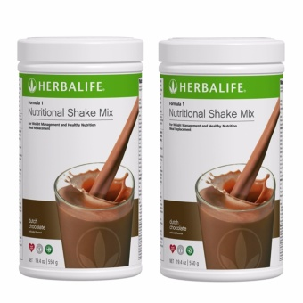 Herbalife Nutritional Shake Dutch Choco Canister Set of 2