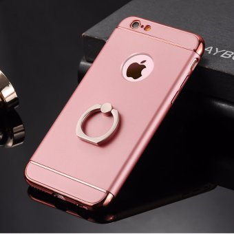 3 in 1 Ultra Slim Metal Hybrid Anti-skidding Hard PC Back Case Cover With Ring Kickstand for Apple iPhone 6/6S(Rose Gold) - intl