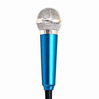 3.5mm Clip On Mini Lapel Mini Microphone For Mobile Phone (Blue)