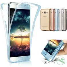 360 Degree Full Protective Soft Clear Crystal Gel TPU Case Front + Back Cover for Samsung