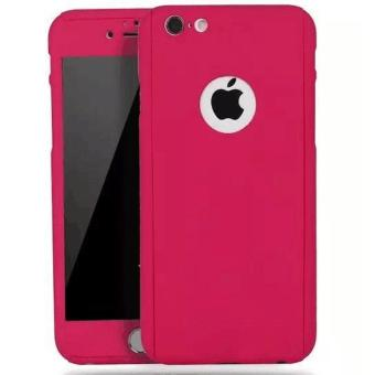 360 Full Cover Case with Tempered Glass For iPhone 6G/6SPlus (Pink)