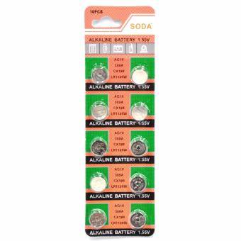 AG10 389A CX189 LR1130W Alkaline Cell Button Battery 10 Pieces