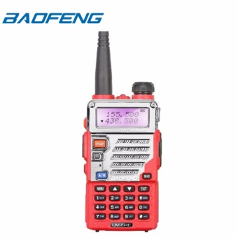 Baofeng UV-5RE VHF/UHF Dual Band Two-Way Radio (Red)