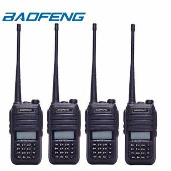 Baofeng UV-6RA Water Resistant Dual Band VHF UHF Two Way Radio Set of 4 (Black)