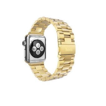 Bluesky Apple Watch Band 38mm Solid Stainless Steel Watch Strap for iWatch Metal Replacement Wrist Band with Classic Buckle fits Apple Watch Sport and Edition Gold