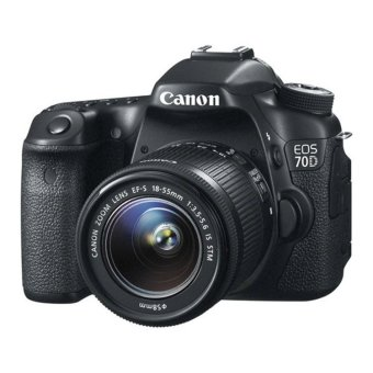 Canon EOS 70D 20.2MP DSLR Camera w/ 18-55 IS STM Lens Kit