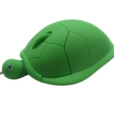 Elife USB 2.0 1000dpi 3D Wired Optical Cute Turtle Shape Mice Mouse For PC Laptop -