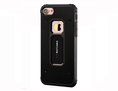 Leegoal Black Silicone Hybrid Double Layer Heavy Duty Armor Case With Red Kickstand . Source ·