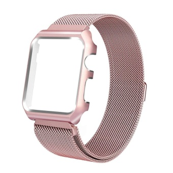 For Apple Watch 38mm Stainless Steel Magnetic Replacement WristBand With Case - intl