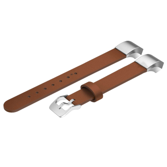 Genuine Leather Replacement Watch Band Strap Bracelet for FitbitAlta Brown