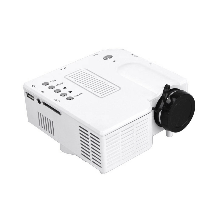 Unic uc18 mini lcd projector with usb hdmi tf av slot for Small hdmi projector
