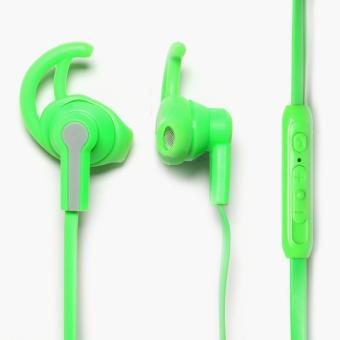 Hoco Universal Wire Control Earphones with Mic (Green)