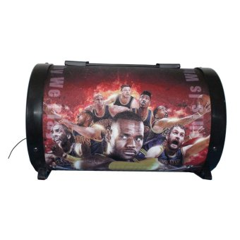 Ilike IE-561 NBA Printed Subwoofer Speaker (Red)