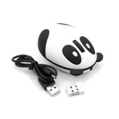 Lovely Cute 2.4GHz Wireless Optical Panda Computer Mouse Mice White/Pink - intl