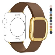 leegoal 42mm Genuine Leather Loop With Magnet Lock Strap Replacement Band For Apple .