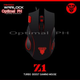 O-PH Z-1 Fantech LED Wired Optical Gaming Mouse (Black)