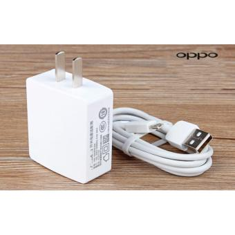 Oppo-1A Fast Charger For Smart Phone Whit USB (White)