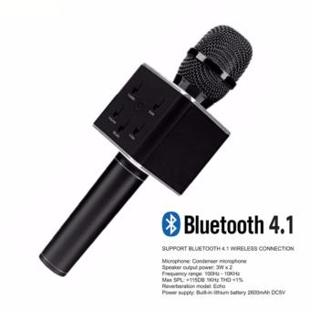 Portable Bluetooth Karaoke Mic Q7 for IOS/Android Devices (Black)