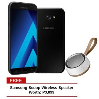Samsung Galaxy A7 2017 32GB (Black Sky) with Free Samsung Wireless Scoop Speaker