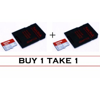 SanDisk Ultra Micro SDHC Card Class 10 16GB UHS-I with Adapter