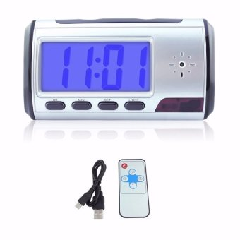 Spy Camera Alarm Clock Video Recorder Hidden Nanny CamDVRMotionDetection - intl