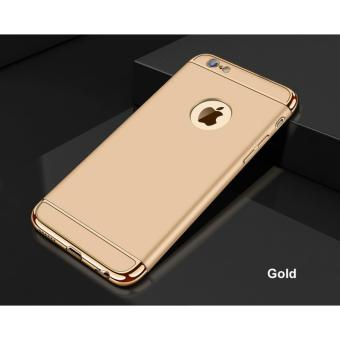 Ultra-thin 3 in 1 Anti-scratch Fingerprint Shockproof ResistCracking Electroplate Metal Texture Armor Pc Hard Back Case Coverfor Apple iphone 6 Plus and 6s Plus 5.5 Inch - intl