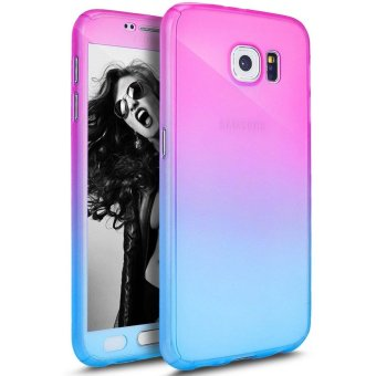 Ultra Thin 360 Degree Full Body Coverage Protection Gradient Ramp Vibrant Colorful PC Hard Slim Case for Samsung Galaxy S7 Edge (Multicolor) - intl