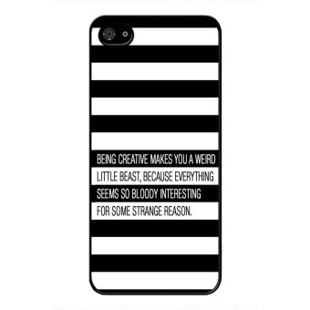 Y&M Black and White Stripe BlackBerry Z10 Phone Cover(Multicolor)
