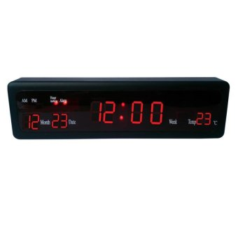115 led display digital wall clock desk clock with for Digital led wall clock philippines