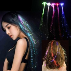 Buy sell cheapest led fiber optic best quality product deals 1pc hot led shiny hair extensions party fiber optic light high quality intl pmusecretfo Gallery