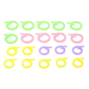 20Pcs Colorful Knitting Crochet Craft Locking Stitch Marker HolderNeedle Clip 2 Size 10 Small 10 Large Plastic Knitting Tools - intl