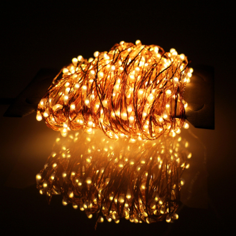 24m 480 LED Outdoor LED String Lights Warm White Copper WireChristmas Starry Fairy Lights+Power Adapter (Warm White) - intl