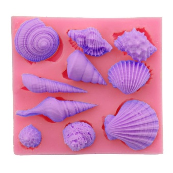 3D Sea Shells Mould Fondant Cake Chocolate Mold Cupcake Decor DIY Tool - intl