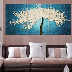 Home Decor For Sale flash sale sites daily discounts on home decor 40 X 60cm 3 Pannels No Frame Beautiful Money Tree Painting Wall Art Picture Home Decoration Canvas Modern