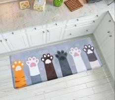 45 X 120cm Cute Cat Claw Printed Mat Doormats Bathroom Carpets Floor Mats Bedroom Rugs Kitchen Rug Living Room Anti Slip