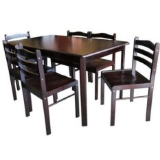 seater dining table set and chairs pressboard wenge