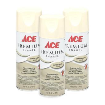 Ace Hardware Premium Enamel Glossy Spray Paint Set Of 3 Antique White Lazada Ph