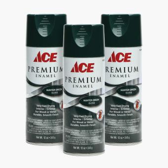 Ace Hardware Premium Enamel Glossy Spray Paint Set Of 3 Hunter Green Lazada Ph
